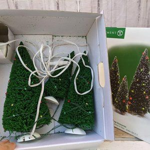 Dept 56 52823 twinkling lit trees green set three